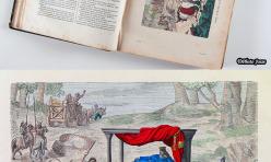 Numérisation - Gravure d'un roi dans un ouvrage centenaire