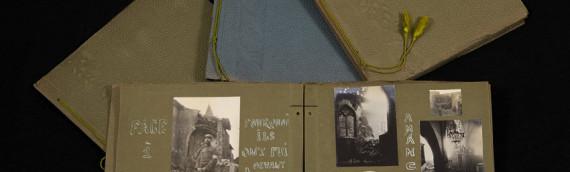 Numérisation – Albums uniques de la première guerre mondiale.