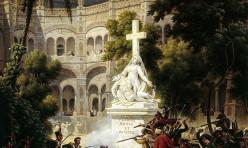 Assaut du monastère San Engracia à Saragosse le 8 fevrier 1809 par Lejeune Louis Francois. Versailles, Musée du Chateau