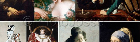 Patchwork de portraits de grands peintres