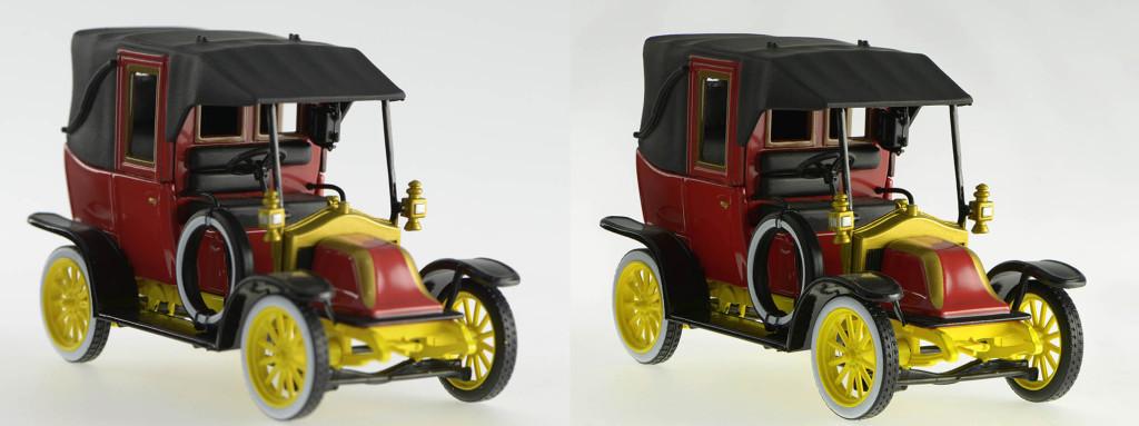 Modèle réduit d'un taxi de la marne 1914