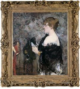 La Modiste (1881) de Edouard Manet exposé au Fine Art Museum de San Fransisco