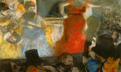 Le cafe concert - aux ambassadeurs par Edgar Degas (1876). Lyon, Musée des Beaux Arts