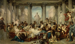 Les Romains de la décadence par Thomas couture en 1847. Paris, Musée d'Orsay