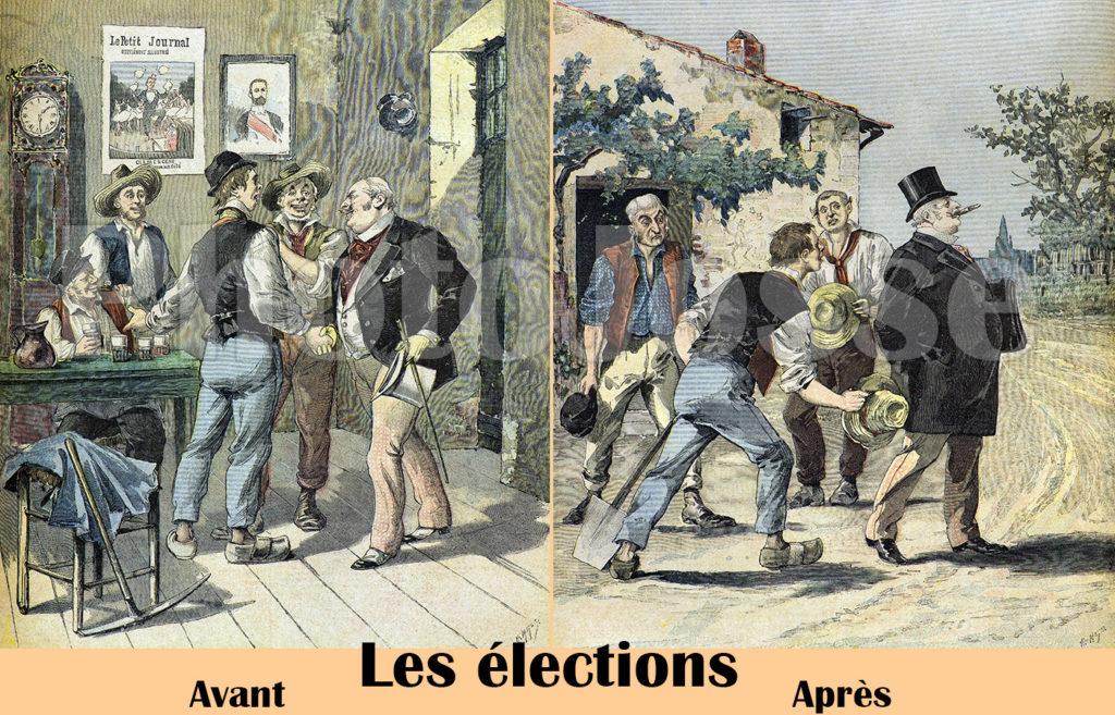 Gravure du 19ème siècle sur les élections - PhotoJosse